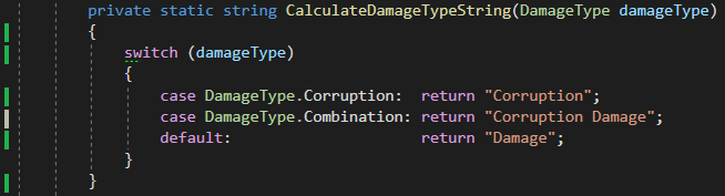 Code Coverage on a simple switch statement