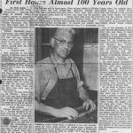 newspaper clipping of first house of 100 years