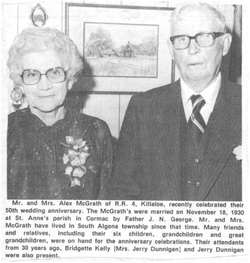 Mr. and Mrs. Alex McGrath