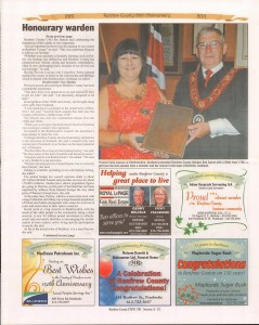 A Journey Through Time - Past, Present and Future. Published by The Eganville Leader, celebrating the 150th anniversary of Renfrew County. Page 20