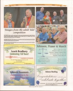 A Journey Through Time - Past, Present and Future. Published by The Eganville Leader, celebrating the 150th anniversary of Renfrew County. Page 32