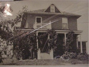Photo of C.W. Boland house on Civic Street. Killaloe Millennium Museum Exhibit.