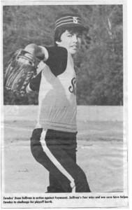 Baseball skills begin at an early age in Killaloe. Betty Mullin Collection
