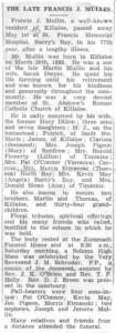 Francis Mullin obituary.