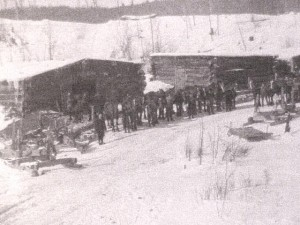 J.R. Booth Lumber Camp. Location unknown. Private Collection.