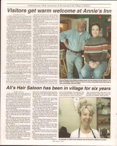 Killaloe Today, published in August of 2008 to commemorate the Town's 100th Birthday. Page 5