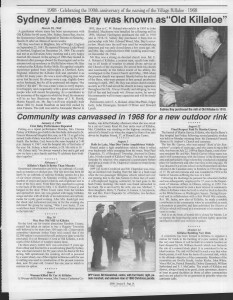 A trip down memory lane, produced by the Eganville Leader to commemorate Killaloe's centennial, in August 2008. Page 67