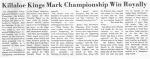 This story and the related photos chronicle the winning 1981 season of the Killaloe Kings from the Eganville Leader.