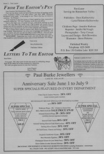 The Laker, Issue 3 from Friday, June 3rd 1988. Page 2