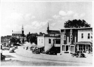 View of Queen Street looking North, downtown Killaloe. Betty Mullin Collection.
