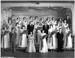 St. Andrew's Grade 12 and 13 Graduates 1952. Betty Mullin Collection.