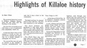 This collection of stories and photos was printed in the 70's in Barry's Bay This Week newspaper. Part 10 of 10. Betty Mullin Collection.