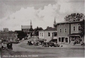 View of Queen Street looking North, downtown Killaloe. Killaloe Millennium Museum Exhibit.