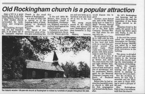 old rockingham church is an attraction