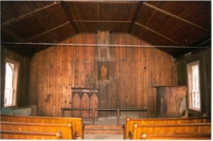 rockingham church interior. wc