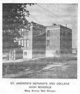 History of St. Andrews Parish as published in the Eganville Leader November 20th, 1961. Part 1 of 18. Betty Mullin Collection.