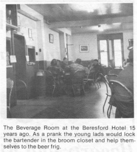 This story about the Beresford Hotel was written by Corinne Higgins and published in Barry's Bay This Week April 1st, 1987. This is part 9 of 9. Betty Mullin Collection.
