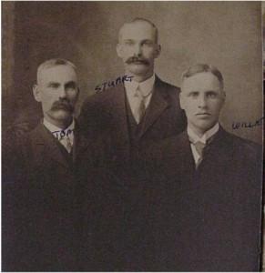 three unidentified men
