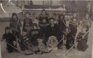 Minor hockey, names and year unknown. Killaloe Millennium Museum Exhibit.