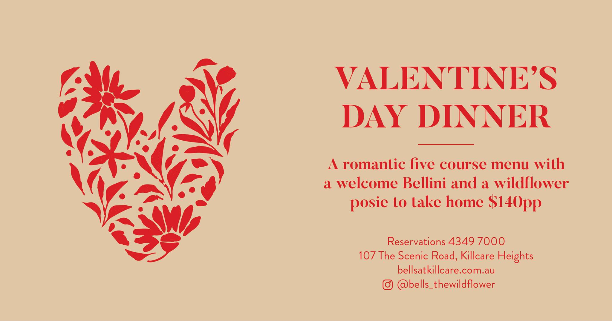 Valentine's Day Dinner at The Wild Flower Bar & Dining