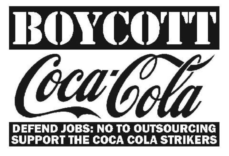 Risultati immagini per boycott coca cola