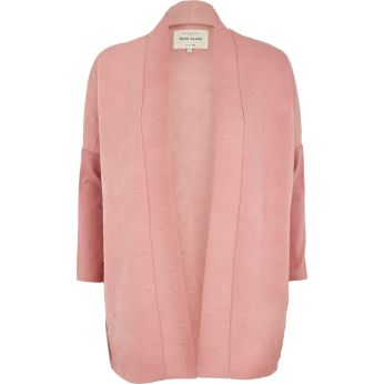 RIVER ISLAND Pink Diamond Quilted Jersey Jacket €45