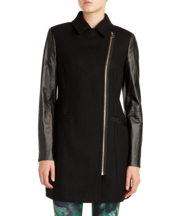 TED BAKER Leather Sleeve Coat €392.68