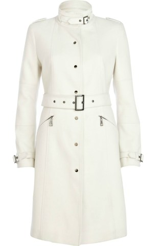 River Island €47 - White High Neck City Coat http://tinyurl.com/py9t22g