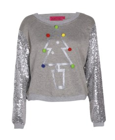 Boohoo €22 - Eve Christmas Tree Sweat With Sequin Sleeves