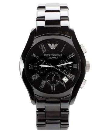 Emporio Armani €683.58 - AR1400 Chronograph Black Ceramic Watch http://tinyurl.com/mxv6ms7