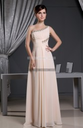 €149 - Chic One Shoulder Long Pearl Pink Prom Dresses http://www.fannycrown.com/chic-one-shoulder-long-pearl-pink-prom-dresses-3512.html