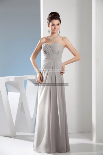 €109 - Perfect Flare Sweetheart Prom Dress http://www.fannycrown.com/elegant-sweetheart-long-silver-prom-dresses.html