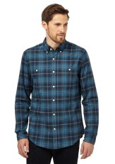 Hammond & Co. by Patrick Grant @ Debenhams €60 - Bright turquoise checked long sleeved shirt http://bit.ly/1O2MQeM