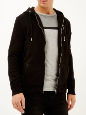 River Island €40 - Black zip pocket long sleeve hoodie http://bit.ly/1WyHz1N