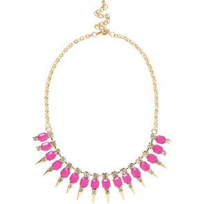 River Island €17 - Pink Spike Statement Necklace http://eu.riverisland.com/women/jewellery/necklaces/Pink-spike-short-statement-necklace--643389