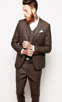 ASOS from €45.50 - Slim Fit Suit in Herringbone http://bit.ly/1LiWV8P