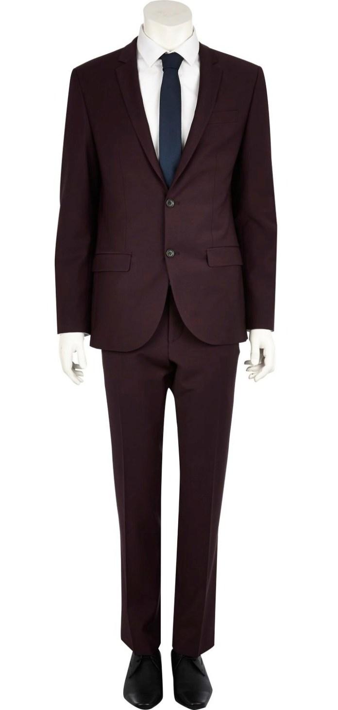 Plum Slim Suit Jacket €135 - http://eu.riverisland.com/men/suits/slim-fit/Plum-slim-suit-jacket-274387