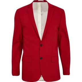 Limited Edition Bright Red Slim Suit Jacket €95 - http://eu.riverisland.com/men/suits/slim-fit/Bright-red-slim-suit-jacket-279218