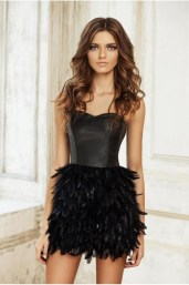 Leather & Feather Dress €1,080 http://phoenixanna.com/index.php?route=product/product&path=60&product_id=63
