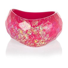 Pink Flecked Curve Bangle €17 - http://eu.riverisland.com/women/jewellery/bracelets/Pink-flecked-curved-bangle-650117