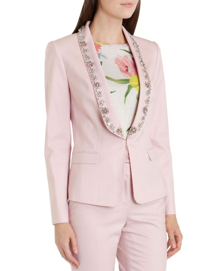 Ted Baker €315 - Wide Lapel Suit Jacket http://www.tedbaker.com/ie/Womens/Clothing/Tailoring/KIKIE-WIDE-LAPEL-SUIT-JACKET-Nude-Pink/p/113690-57-NUDE-PINK