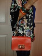 Orange Chain Bag €22.50 - http://www.loveaccessories.ie/product/orange-bag-with-gold-colour-chain/