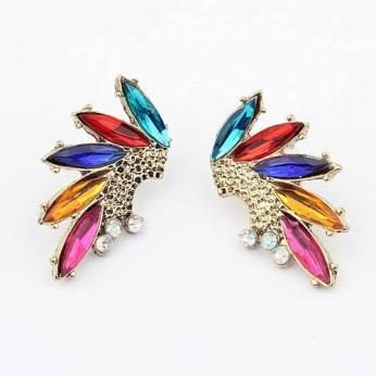 Multicoloured Jewel Earrings €4 - http://www.loveaccessories.ie/product/multicoloured-jewel-earrings/