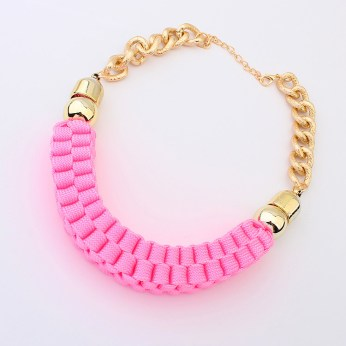 Woven Pink Necklace €10 - http://www.loveaccessories.ie/product/woven-pink-necklace-copy/