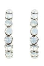 No.1 Jenny Packham €15.75 - Designer silver iridescent gem hoop earrings http://bit.ly/1n5do2d