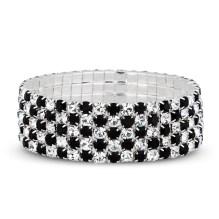 Jon Richard €27 - Jet and crystal embellished wide stretch bracelet http://bit.ly/1mmztIR