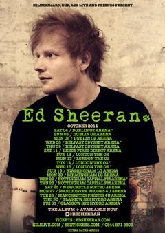 Ed Sheeran 2014 Tour - http://bit.ly/1mB07yv