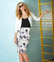 Quiz €32.49 - Black And Stone Floral Print Midi Dress http://bit.ly/1vtHIJy