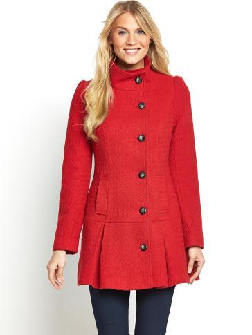 South @ Littlewoods €76 - Petite Peplum Dolly Coat http://bit.ly/Z4kV91