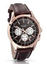 Sekonda €110.05 - Chronograph Watch Brown Leather Black Dial http://bit.ly/1nMEXQJ
